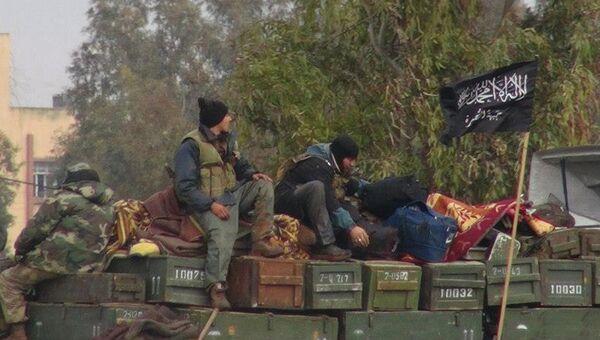 Боевики запрещенной в России террористической группировки Джебхат ан-Нусра в провинции Идлиб. Архивное фото