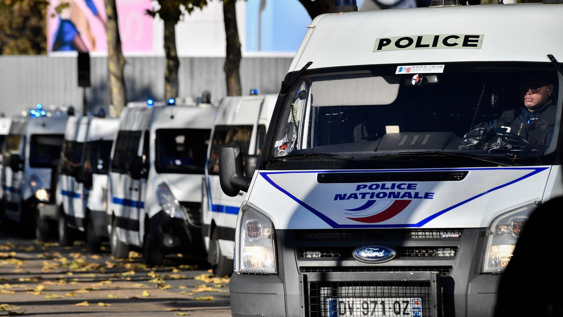 Полицейские автомобили в Париже - РИА Новости, 1920, 06.02.2021