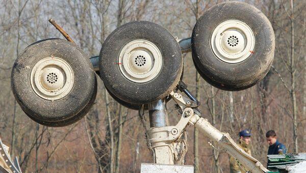 На месте авиакатастрофы. Архивное фото