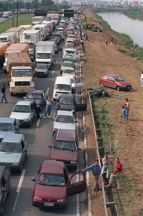 Пробка в Сан-Паулу, Бразилия