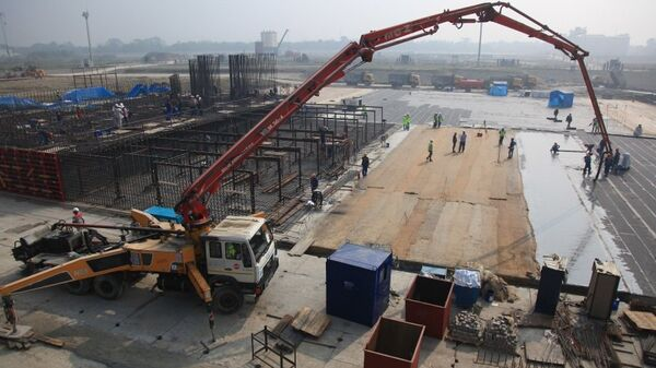 Церемония заливки первого бетона на стройплощадке АЭС Руппур, Бангладеш