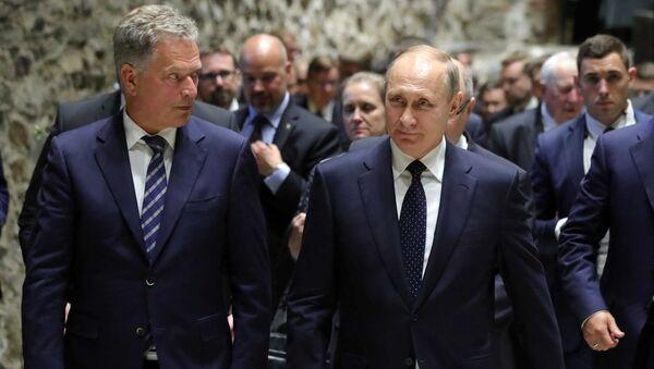 Владимир Путин и президент Финляндии Саули Ниинистё во впремя встречи. Архивное фото