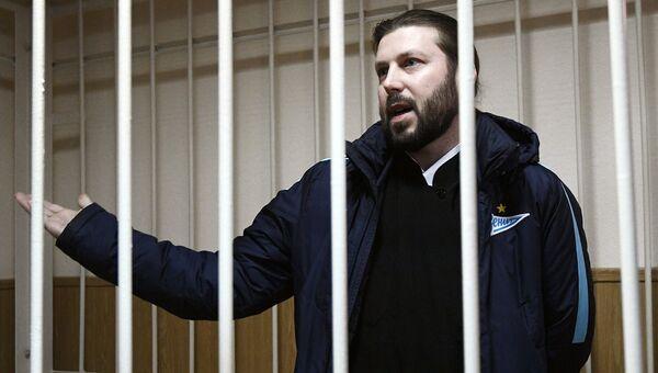 Священник Глеб Грозовский, обвиняемый в педофилии, во время оглашения приговора в Приозерском городском суде Ленинградской области. Архивное фото