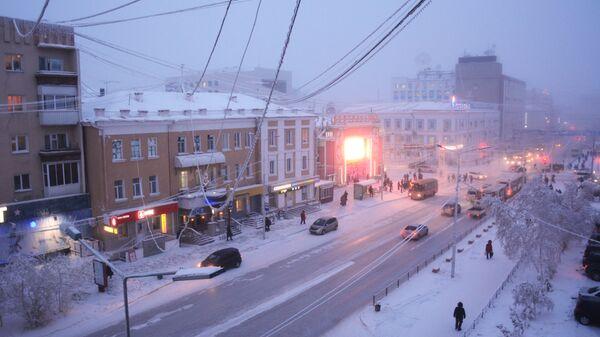 Одна из улиц города Якутск