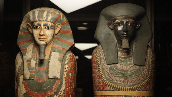 Мумии братьев, найденные в окрестностях Каира в начале XX века
