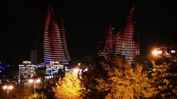Архитектурный комплекс Башни Пламени в Баку