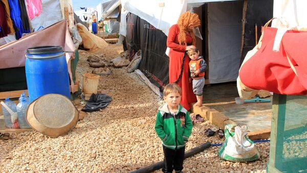 Сирийские дети в лагере беженцев на севере Ливана. 16 января 2018