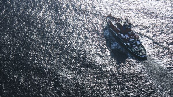 Поиски пропавшего судна в море. Архивное фото