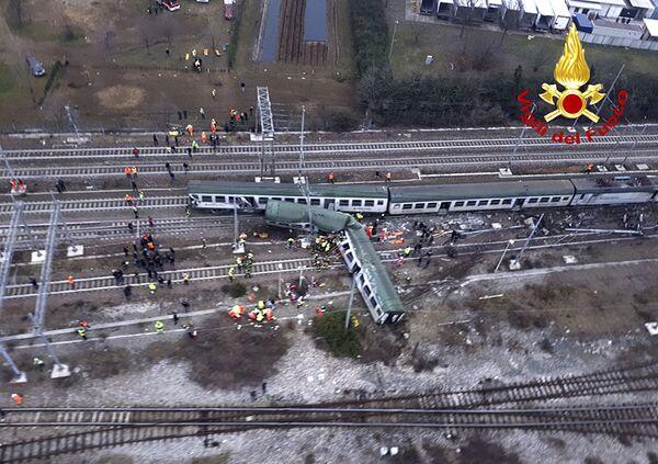 Крушение поезда на окраине Милана, Италия. 25 января 2018 года