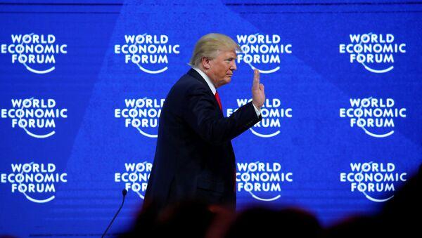 Президент США Дональд Трамп во время экономического форума в Давосе. 26 января 2018