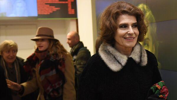 Французская актриса и режиссер Фанни Ардан на показе своего фильма Диван Сталина в кинотеатре Пионер. 26 января 2018