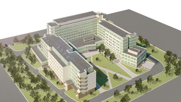 Проект нового корпуса Центрального госпиталя Федеральной таможенной службы России