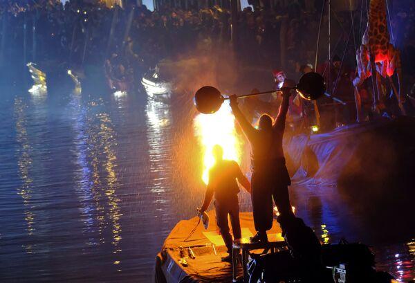 Церемония открытия карнавала в Венеции, Италия. 27 января 2018 года