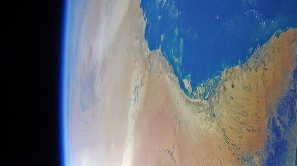 Южное побережье Персидского залива в объективе космонавта Антона Шкаплерова