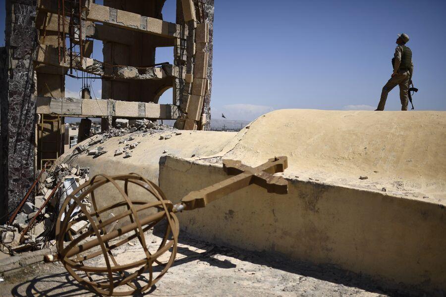 Разрушенная церковь Святого Иоанна в Каракоше, Ирак
