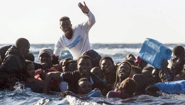 Мигранты в Средиземном море. 27 января 2018 года