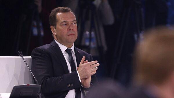 Дмитрий Медведев и премьер-министр Казахстана Бакытжан Сагинтаев во время очередного заседания Евразийского межправительственного совета с участием глав правительств стран-участниц ЕАЭС. 2 февраля 2018