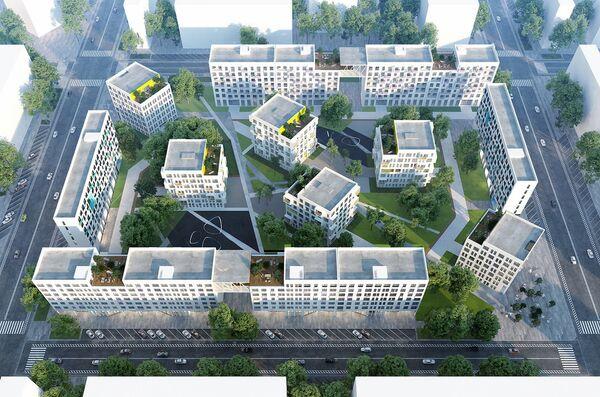 Концепция среднеэтажной застройки от Ad Hoc Architecture