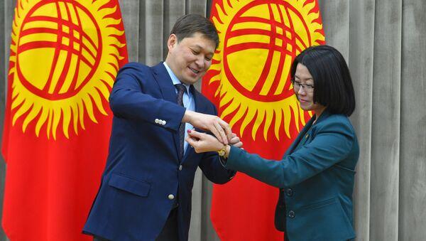 Церемония награждения журналистов Sputnik Кыргызстан за аудиопроект Сынган кылыч
