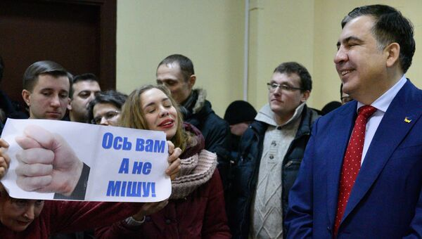 Михаил Саакашвили в Киевском апелляционном административном суде. 5 февраля 2018