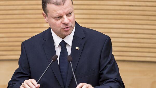 Премьер-министр Литвы Саулюс Сквернялис. Архивное фото