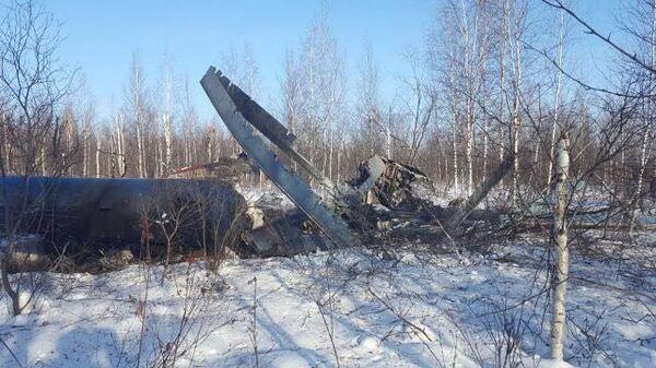 Место аварийной посадки вертолета Ми-8 в Томской области. Архивное фото