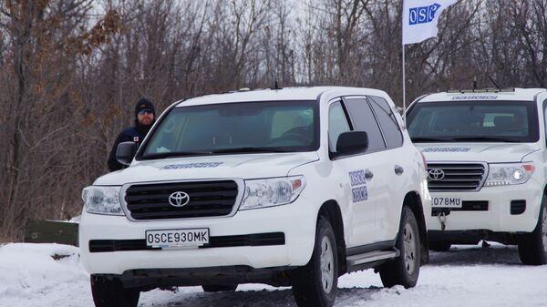 Машины ОБСЕ в Донбассе