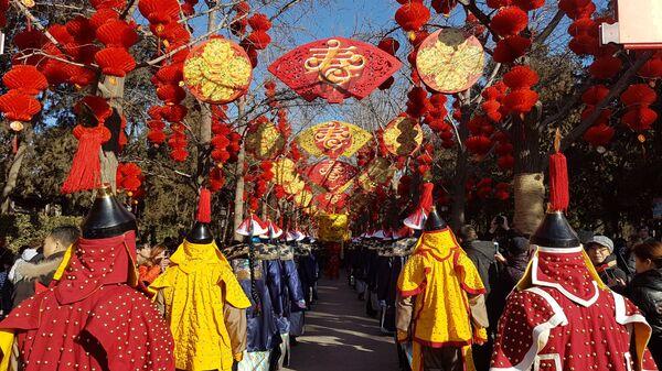 Празднование Китайского нового года в Храме Земли в Пекине