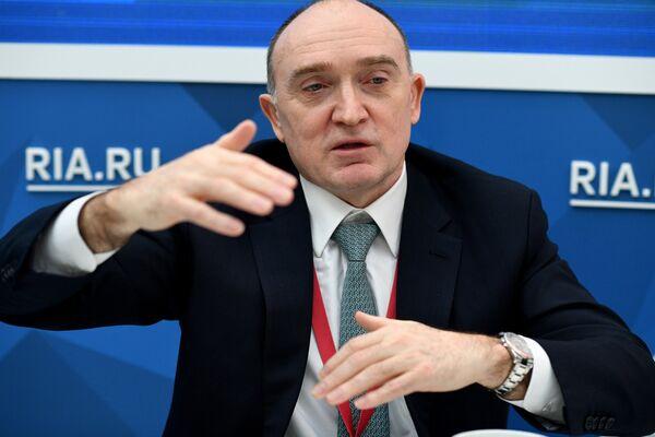 Губернатор Челябинской области Борис Дубровский на Российском инвестиционном форуме (РИФ-2018) в Сочи