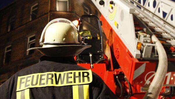 Пожарный в Германии. Архивное фото