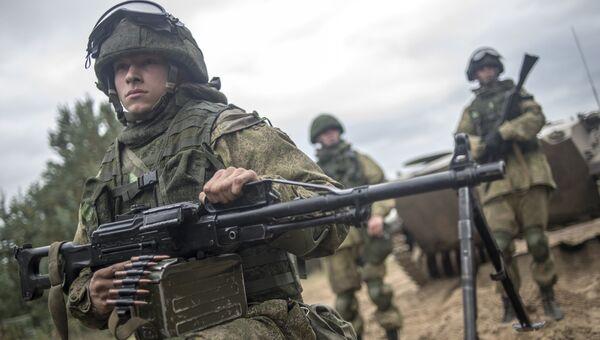 Российские военнослужащие в ходе учений. Архивное фото
