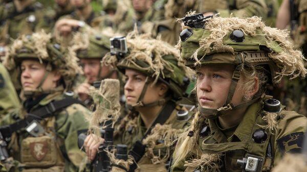 Военнослужащие армии Норвегии во время совместных учений НАТО. Архивное фото