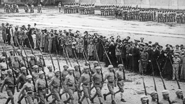 Парад белогвардейских войск в Тифлисе. Лето 1918 года