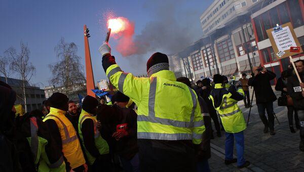 Забастовка сотрудников Air France. 22 февраля 2018