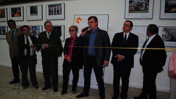 Открытие выставки международного фотоконкурса имени Андрея Стенина в Клубе журналистов Мексики