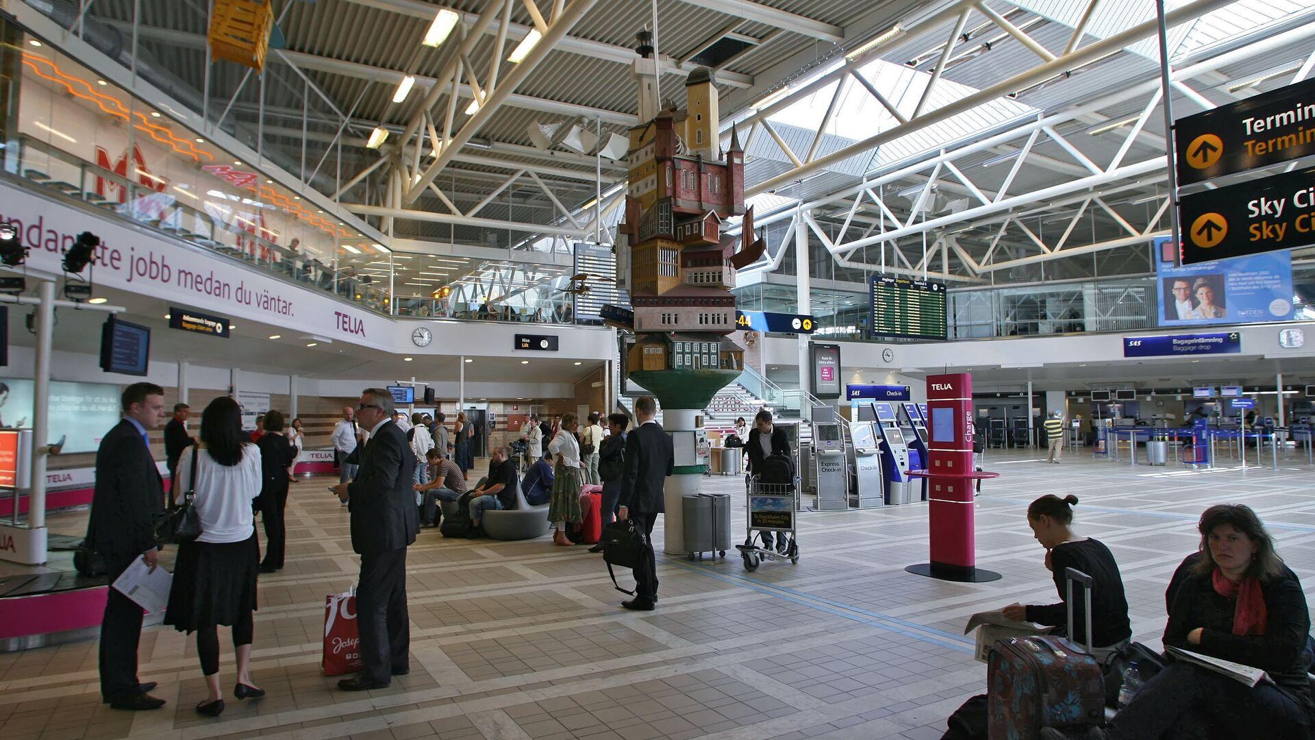 В зале крупнейшего международного аэропорта Швеции Стокгольм-Арланда - РИА Новости, 1920, 27.12.2020
