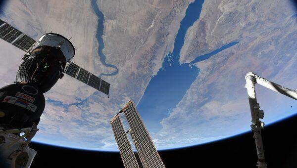 Красное море и Нил снятые астронавтом NASA Скоттом Тингл с борта МКС