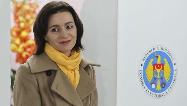 Молдавский политический и государственный деятель Майя Санду. Архивное фото