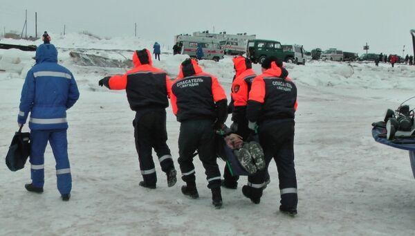 Спасение рыбаков-любителей в бухте Гертнера в Магаданской области. 4 марта 2018