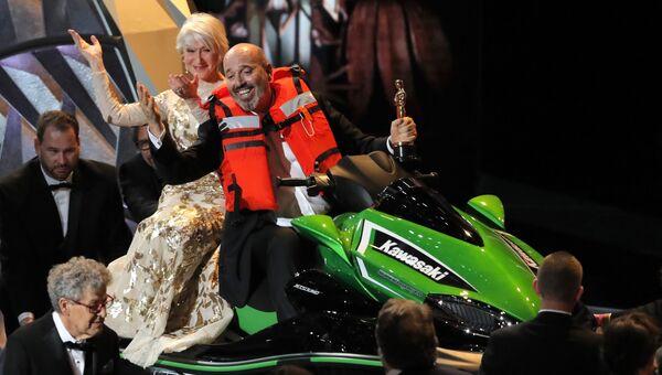 Марк Бриджес и Хелен Миррен на церемонии вручения премии Оскар