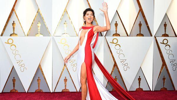 Актриса Бланка Бланко перед церемонией вручения премии Оскар-2018
