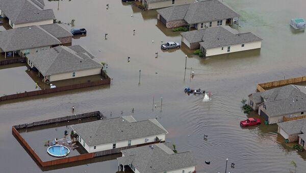 Затопленные дома во время наводнения в Луизиане. 13 августа 2016