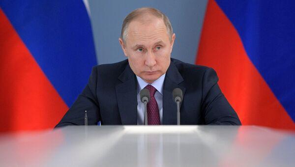 Президент РФ Владимир Путин. 7 марта 2018