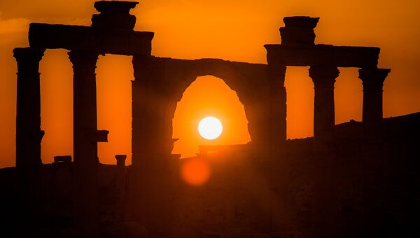 Древняя Пальмира на закате