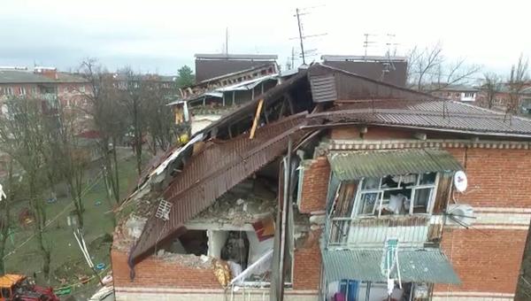 Жилой дом на Славянской улице в Краснодаре, где произошел взрыв газа. Архивное фото