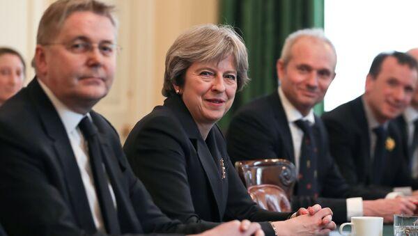 Премьер-министр Великобритании Тереза Май на заседании Объединенного комитета министров, Лондон. 14 марта 2018