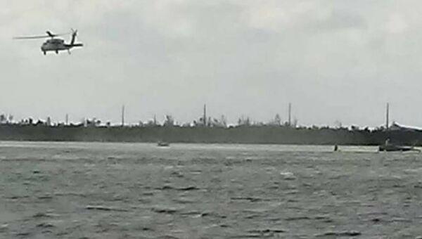 Место крушения истребителя F/A-18 ВМС США в районе островов Ки-Уэст во Флориде. 14 марта 2018