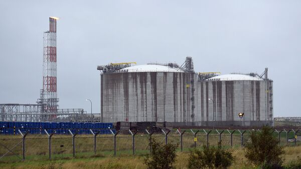 Завод по сжижению природного газа в Южно-Сахалинске. Архивное фото