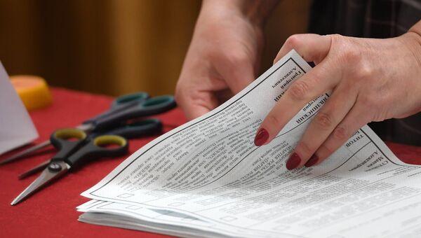 Подсчет голосов на выборах президента РФ в Казани