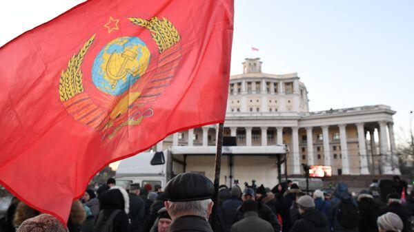 Участники митинга оппозиции в Москве по итогам президентских выборов. 19 марта 2018